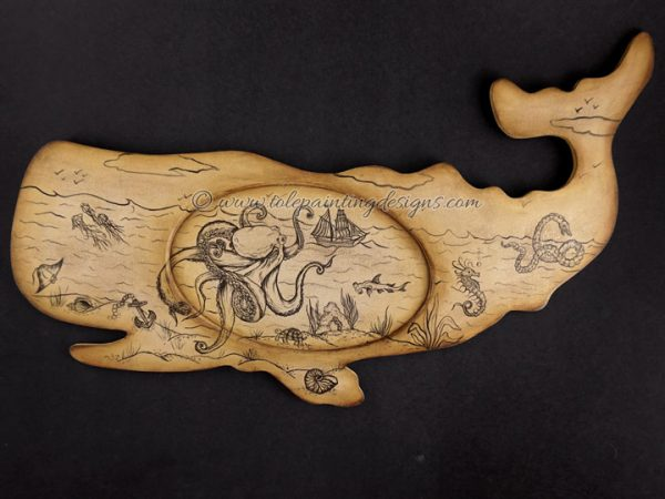 Antique Whale Painting Pattern