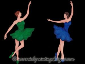 Ballerina Decorative Painting Pattern