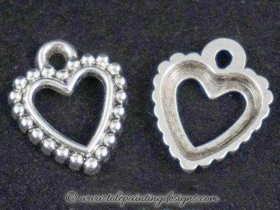 Beaded Heart Charms