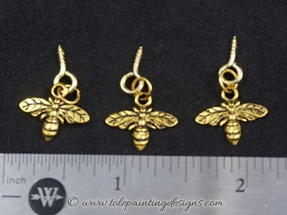 Bee Charm Embellishments