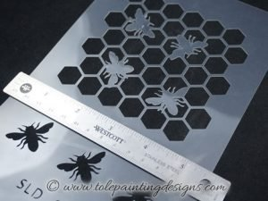Bumble Bee Honeycomb Stencil
