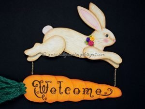 Bunny Welcome Painting Pattern