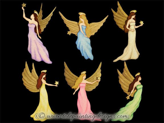 Christmas Angels Painting Pattern