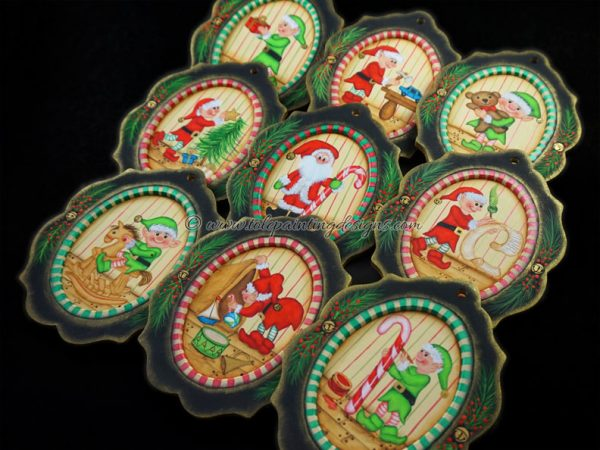 Christmas Elves Tole Painting Pattern