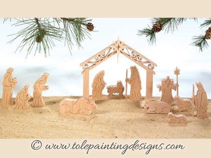 Christmas Nativity Painting Pattern