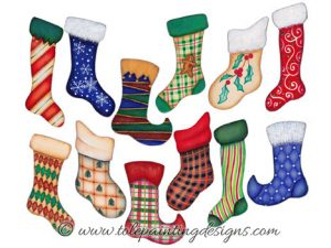 Christmas Stocking Painting Pattern