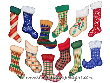 Christmas Stocking Painting Pattern