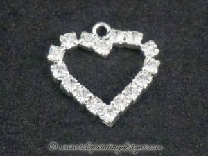 Clear Crystal Heart Charm