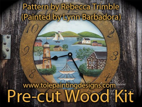 Clock Painting Pattern