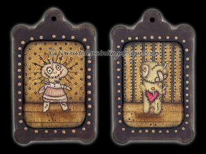 Creepy Dolls Painting Pattern
