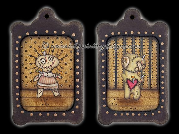 Creepy Dolls Painting Pattern