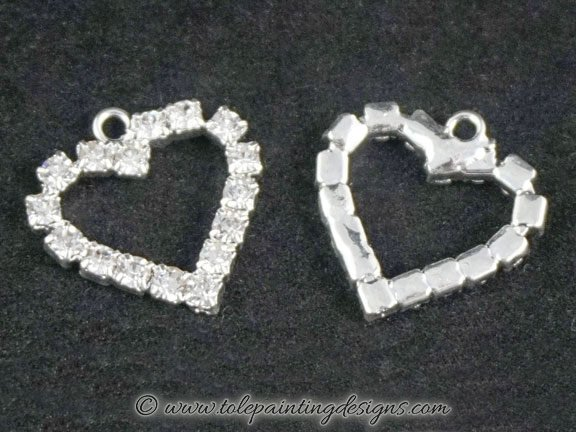 Crystal Heart Embellishments