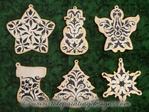 Damask Ornaments Painting Pattern