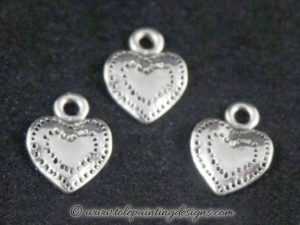 Decorative Painting Heart Charms