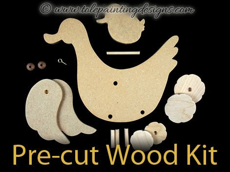 Duck Pull Toy Wood Kit