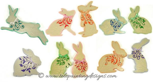 Easter Bunnies Painting Pattern