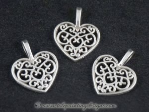 Filigree Heart Metal Charm