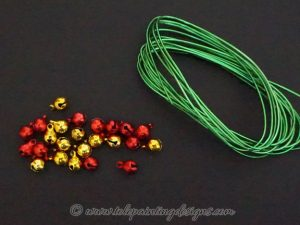 Green Wire Bells & Charms