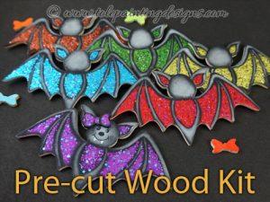 Halloween Bats Painting Surface