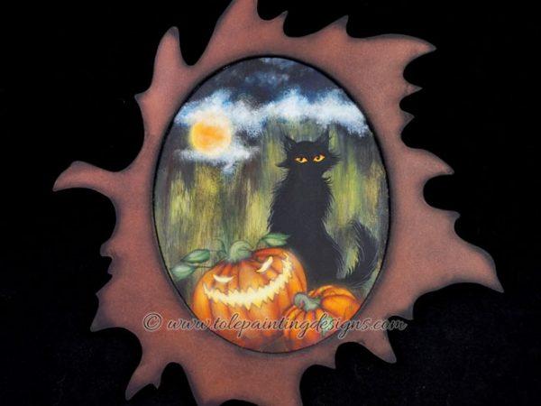 Halloween Cat Decorative Painting Pattern
