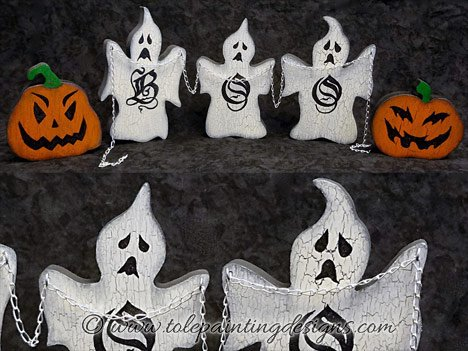 Halloween Ghost Painting Pattern