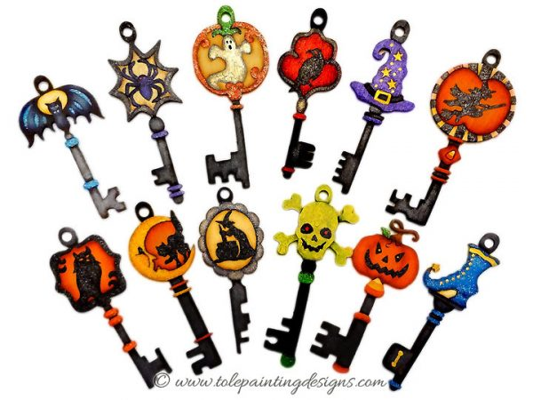 Halloween Key Ornaments Painting Pattern
