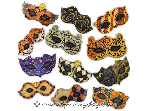 Halloween Mask Painting Pattern