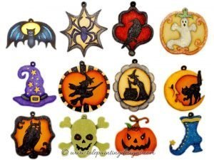 Halloween Ornaments Painting Pattern
