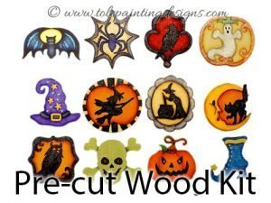 Halloween Ornaments Painting Surface