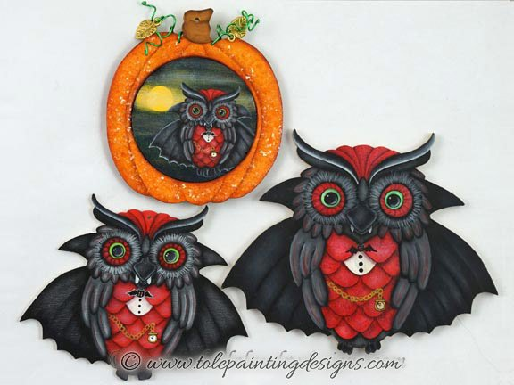 Halloween Owl Decorative Painting Pattern