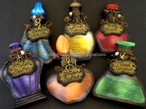 Halloween Potions Painting Pattern