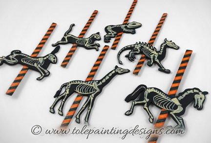 Halloween Skeleton Painting Pattern
