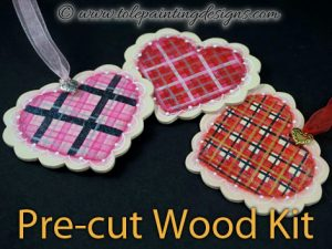 Heart Ornaments Tole Painting Surface