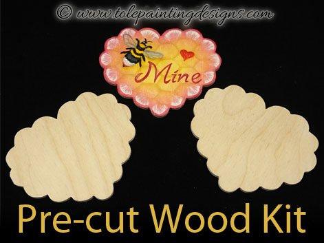 Heart Pin Wood Kit