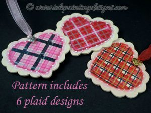 Hearts Plaid Painting Pattern