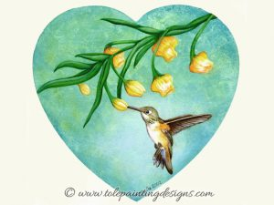 Hummingbird Decorative Painting Pattern
