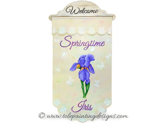 Iris Decorative Painting Pattern