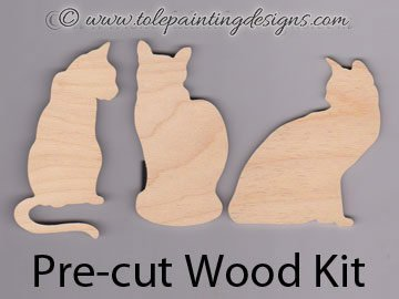 Kitty Silhouette Painting Surface