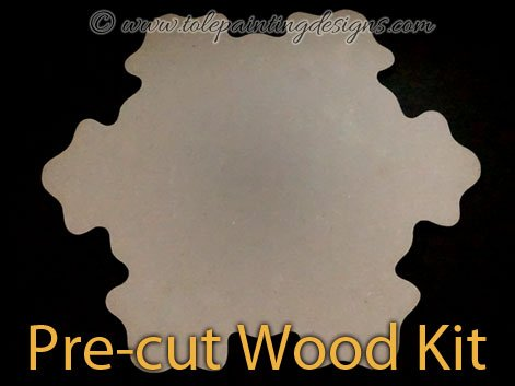Large Snowflake Wood Surface