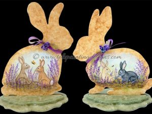 Lavender Bunnies Decorative Painting Pattern