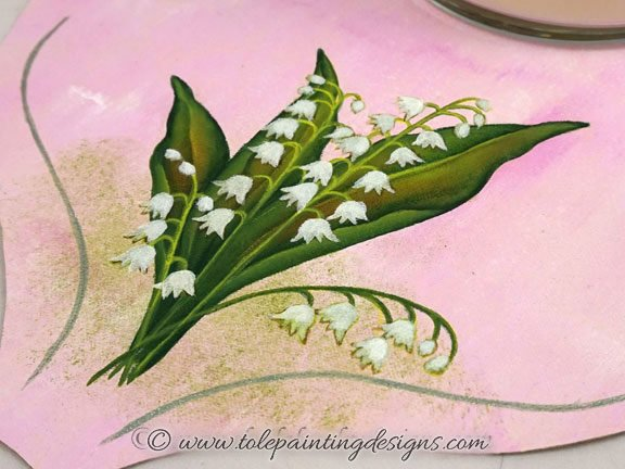 Lily Flower Decorative Painting Pattern