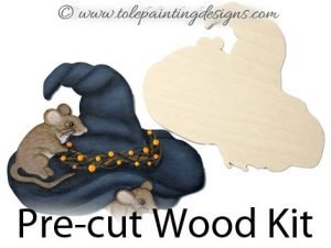 Magical Mice Painting Wood Surface