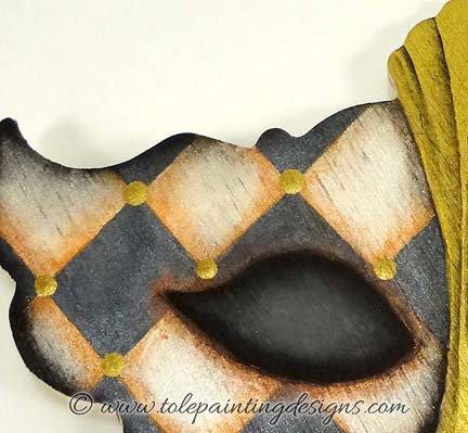 Mardi Gras Mask Painting Pattern