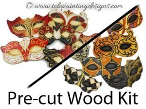 Masquerade Painting Wood Kit