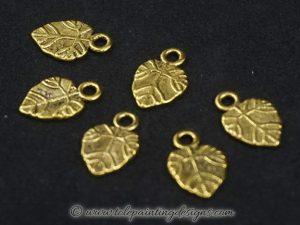 Metal Leaf Charms