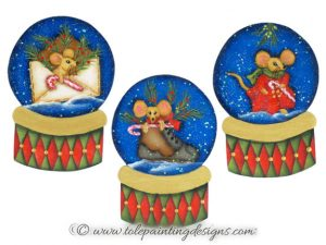 Mice Winter Painting Pattern