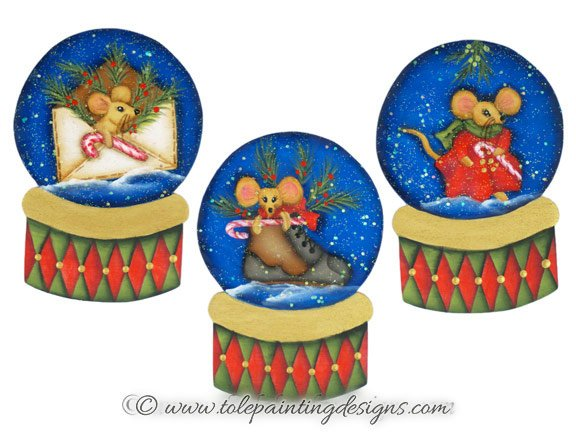 Mice Winter Painting Pattern