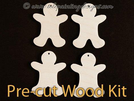 Mini Gingers Painting Wood Kit