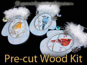Mittens Ornaments Painting Surface