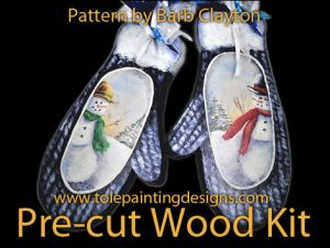 Mittens Wood Painting Surface